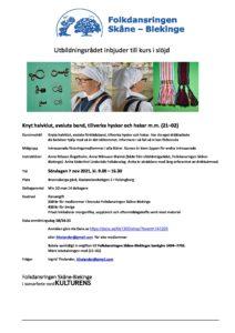 Knyt halvklut, avsluta band, tillverka hyskor och hakar m.m. (21–02) @ Brunnsberga gård